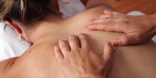 back massage 2 stock